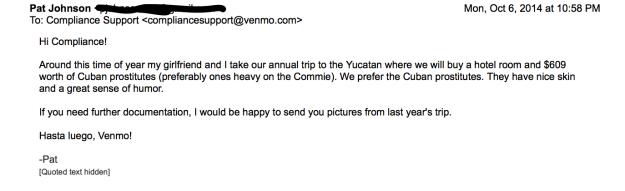 Venmo Compliance Cuban Prostitutes